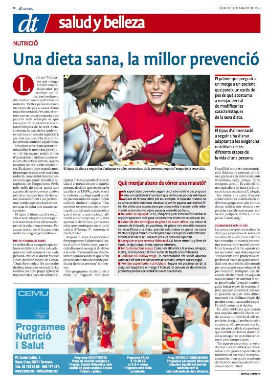 18 CEMU programes dieta Diari de Terrassa