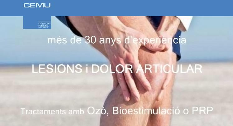 Lesions i articulacions a CEMU més de 30 anys d'experiència